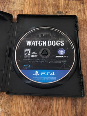 Watchdogs ps4 disc for Sale in Woonsocket, RI