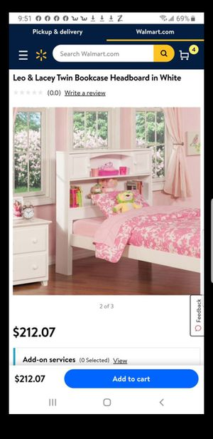 Leo & Lacey Twin Bookcase Headboard in White for Sale in El Cajon, CA