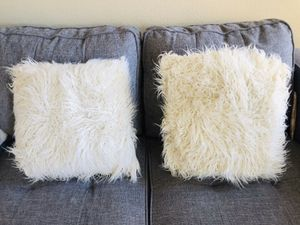 NEW Wayfair Shag Pillows (with case) for Sale in Gaithersburg, MD
