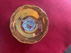 "VINTAGE PORCELAIN MZ CZECH REPUBLIC CLASSICAL 3 LADIES GOLD BANDED PLATE 9 3/4"" for Sale in Wyoming, MI"
