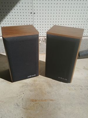 Vintage Polk Audio Monitor Series Stereo Speakers for Sale in Carol Stream, IL