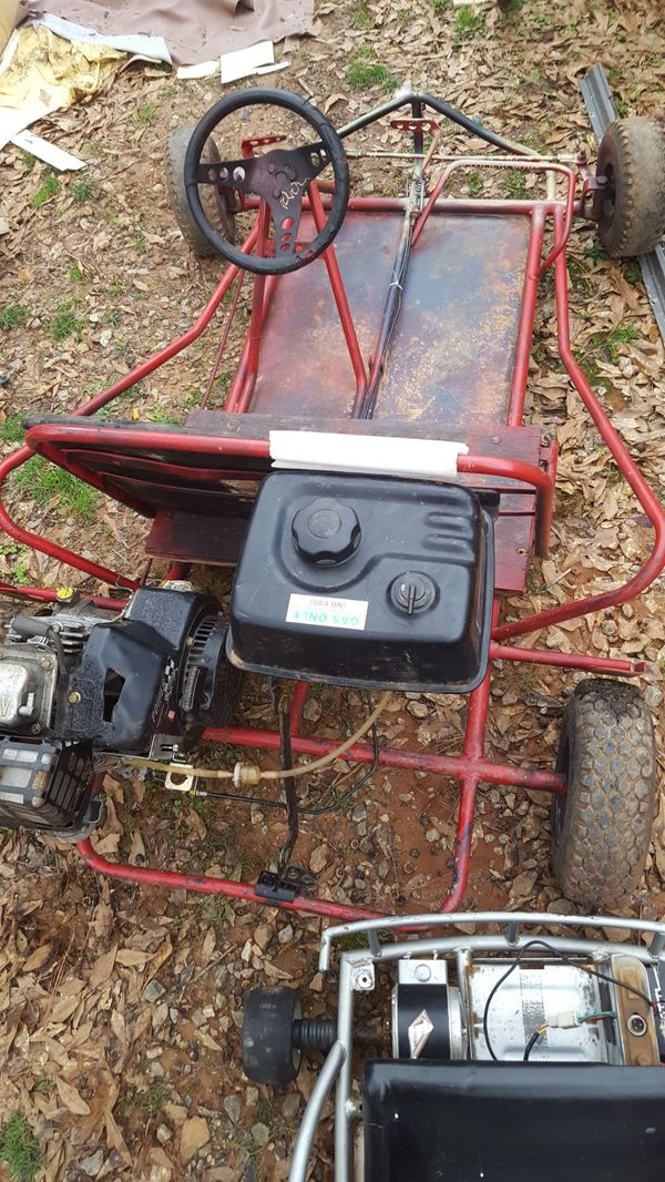 Two seat go kart with 6 horsepower Tecumseh engine