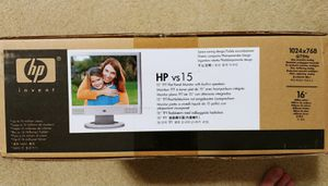 "HP 15"" flat screen computer monitor for Sale in Alexandria, VA"
