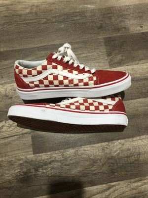 Red checkerboard vans size 9.5 for Sale in Township of Washington, NJ