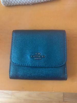 Metallic Blue Coach Wallet for Sale in Portland, OR