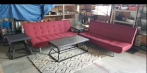 Matching burgundy like new futons for Sale in Holiday, FL