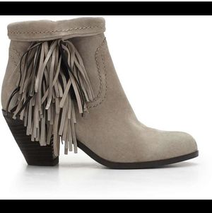 "Sam Edelman ""Louie"" Fringe Bootie - Grey Suede for Sale in Philadelphia, PA"