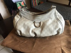 Authentic Gucci Guccissima Ivory Hobo D Ring Bag for Sale in Orange, CA
