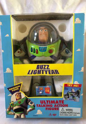 Buzz Lightyear Toy Ultimate talking Action Figure, Disney Toys, The Toy Story, 1995 original for Sale in Menifee, CA