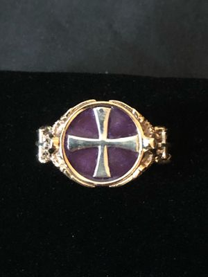 Templar Heraldic Renaissance Medieval Men's Women's Cross Ring Size 10 for Sale in Nashville, TN