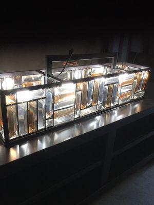 Kitchen island chandelier , Diy project, lamp for Sale in Turlock, CA