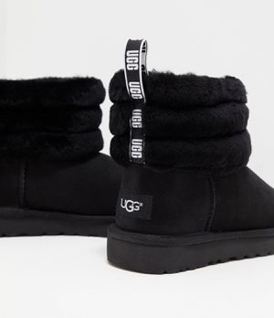 Black fluff uggs for Sale in Canton, OH