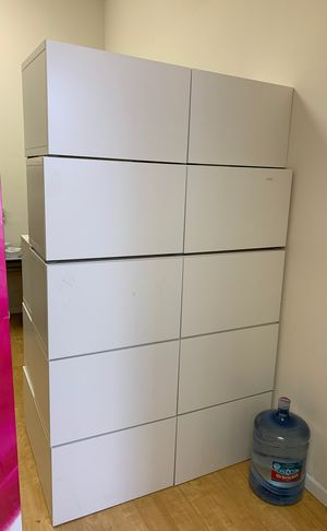 White shelf with doors for Sale in Fremont, CA