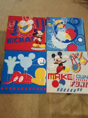 Mickey mouse canvas (kids room decor) for Sale in TN, US