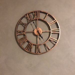 """20"""" Iron Metal Vintage Clock for Sale in Brentwood, MD"""