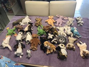 Beanie babies. 22 used7 taged 25 (Lot # 2 ) $25 for Sale in Sunrise, FL
