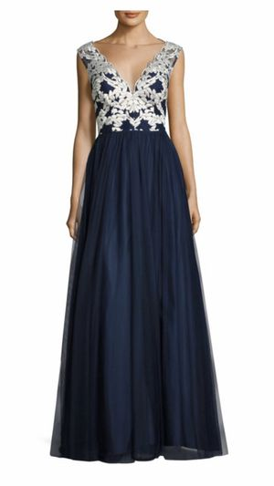 Aidan By Aidan Mattox Gown Formal Dress Size 6 Tulle Navy Prom Special Occasion for Sale in Oak Lawn, IL