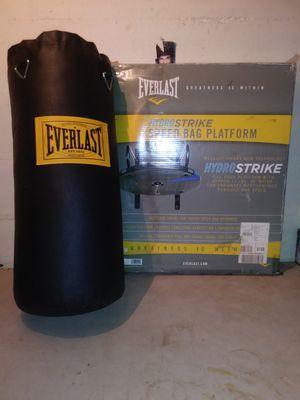 EVERLAST PUNCHING BAG AND SPEED BAG PLATFORM for Sale in Braintree, MA