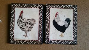 Chicken and rooster frames wall decor for Sale in City of Industry, CA