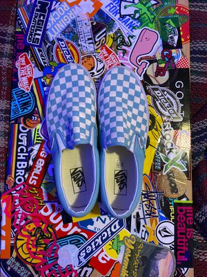 Light blue Vans slip ons size 10 men's for Sale in Phoenix, AZ