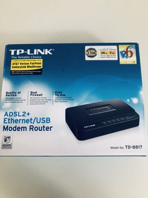 TP - Link modem router for Sale in Washington, DC