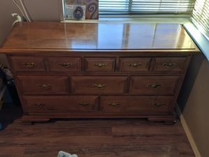 8 drawer dresser solid wood for Sale in Fresno, CA