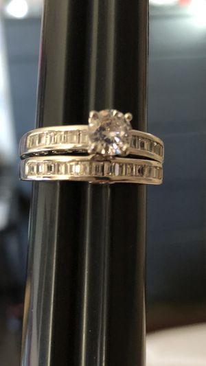 Jewelry wedding rings size 9 - silver 925 for Sale in Perris, CA