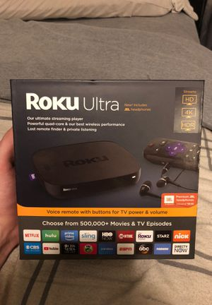 Roku Ultra Stream HD 4K HDR for Sale in Clearwater, FL