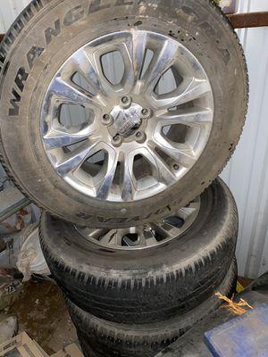 Tires w original rim (laramie longhorn edition) for Sale in Odessa, TX