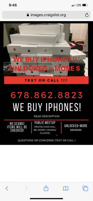 !!We Bu*y And Pay* Top Ca*sh For Your Iphones!! for Sale in Union City, GA