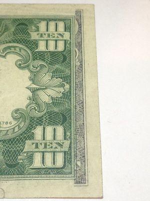 RARE 1950 Offset Printing Error $10 Dollar Bill- Front Design on Back of Bill- $800 Book Value! for Sale in Fairfax, VA