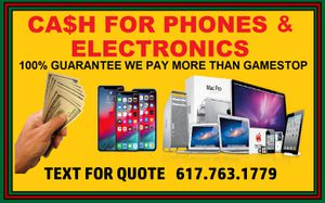 Ca$h for iPhones, iPads and MacBooks for Sale in Arlington, MA