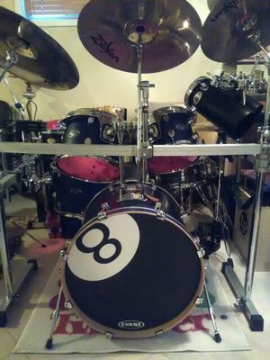 8 pc Pacific Drum set by DW /8 Zildjian cymbal's with everything pictured for Sale in Clinton, MD