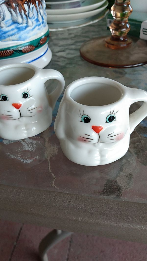 Old rabbit shot glasses