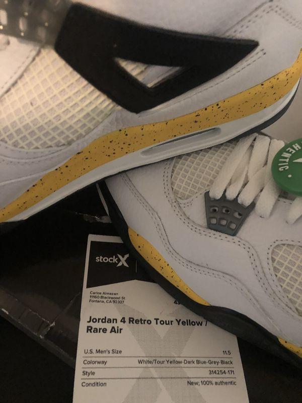 1c1788bc2f31 Jordan Retro 4 Tour Yellow Rare Air Size 11.5 M for Sale in Fontana ...
