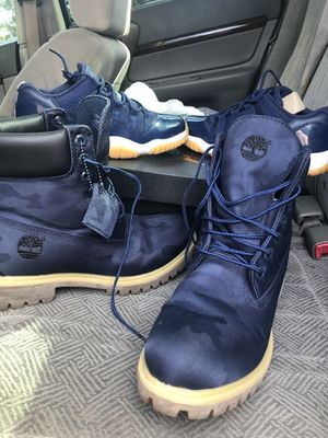 Retro 11 & Navy blue timberlands for Sale in Baytown, TX