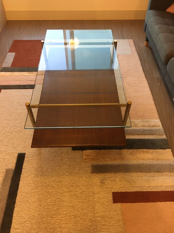 West Elm Mid-Century Art Display coffee table