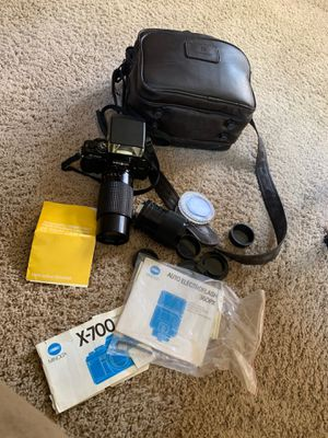 Vintage Minolta X-700 MPS 35mm Film Camera 80-200mm 2 Lenses, Flash + More Lot for Sale in Olmsted Falls, OH
