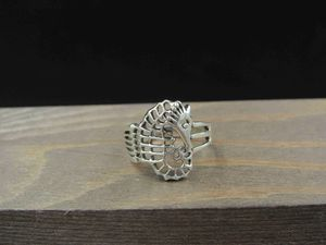 Size 6 Sterling Silver Unique Sea Horse Band Ring Vintage Statement Engagement Wedding Promise Anniversary Bridal Cocktail Friendship for Sale in Everett, WA