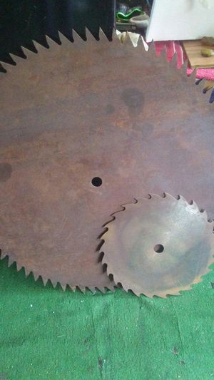 Antique iron Round blade for Sale in Portland, OR