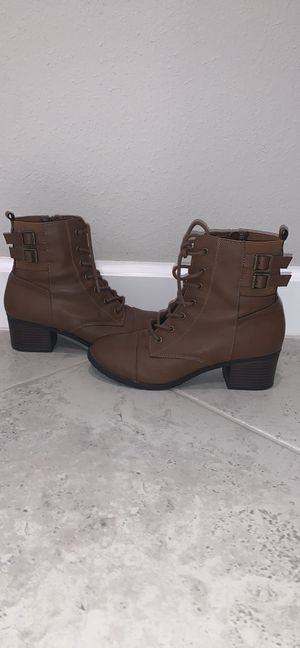 Brash Essentials Women's Lace Up Combat Boots for Sale in Land O' Lakes, FL