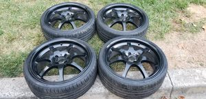 4 18in 4x100 wheels rims tires 215 35 18 for Sale in Germantown, MD