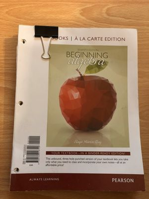 Beginning Algebra for Sale in Los Angeles, CA