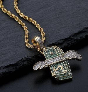 New Iced Out Flying Cash Solid Pendant for Sale in South Portland, ME
