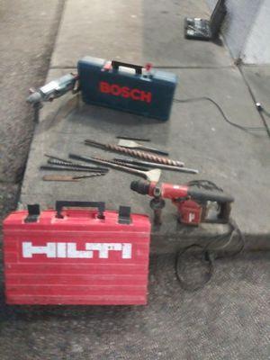 Hilti Hammer Drill TE 55/ Bosch Hammer Extrem Max Drill for Sale in Philadelphia, PA