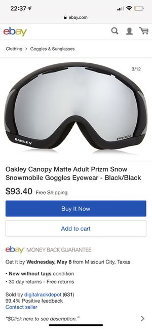Oakley Prizm Snowmobile Goggles for Sale in Oceanside, CA