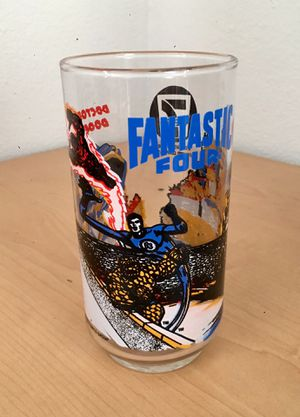 Fantastic 4 collectible drinking glass for Sale in Los Angeles, CA