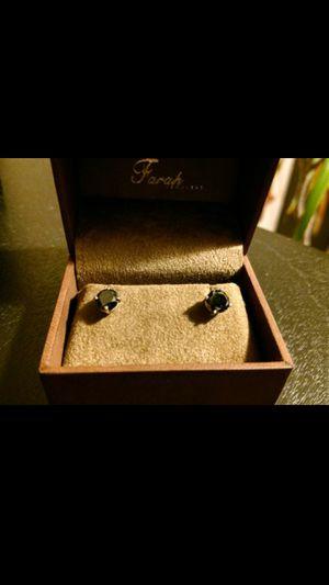 14k black diamond solitaire earrings for Sale in Columbus, OH