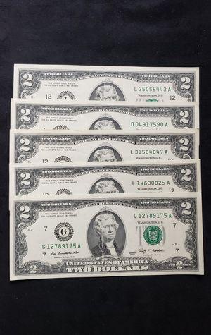 2009 two dollar bills for Sale in Laguna Hills, CA