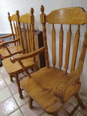 Oak table chairs and China cabinet for Sale in Annandale, VA